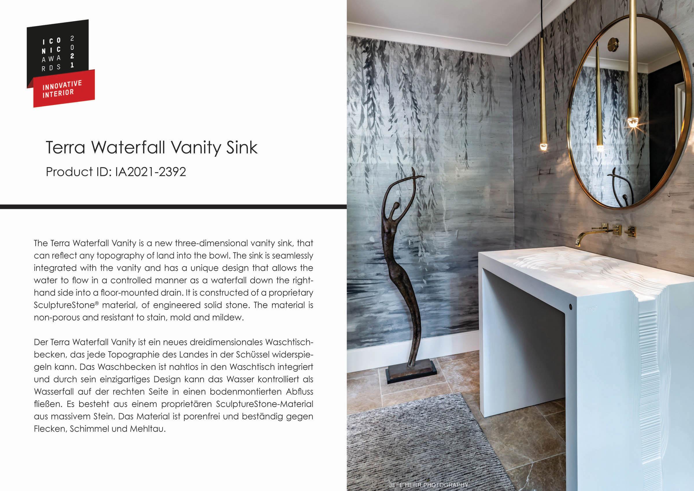 Terra Waterfall Vanity Sink Iconic World