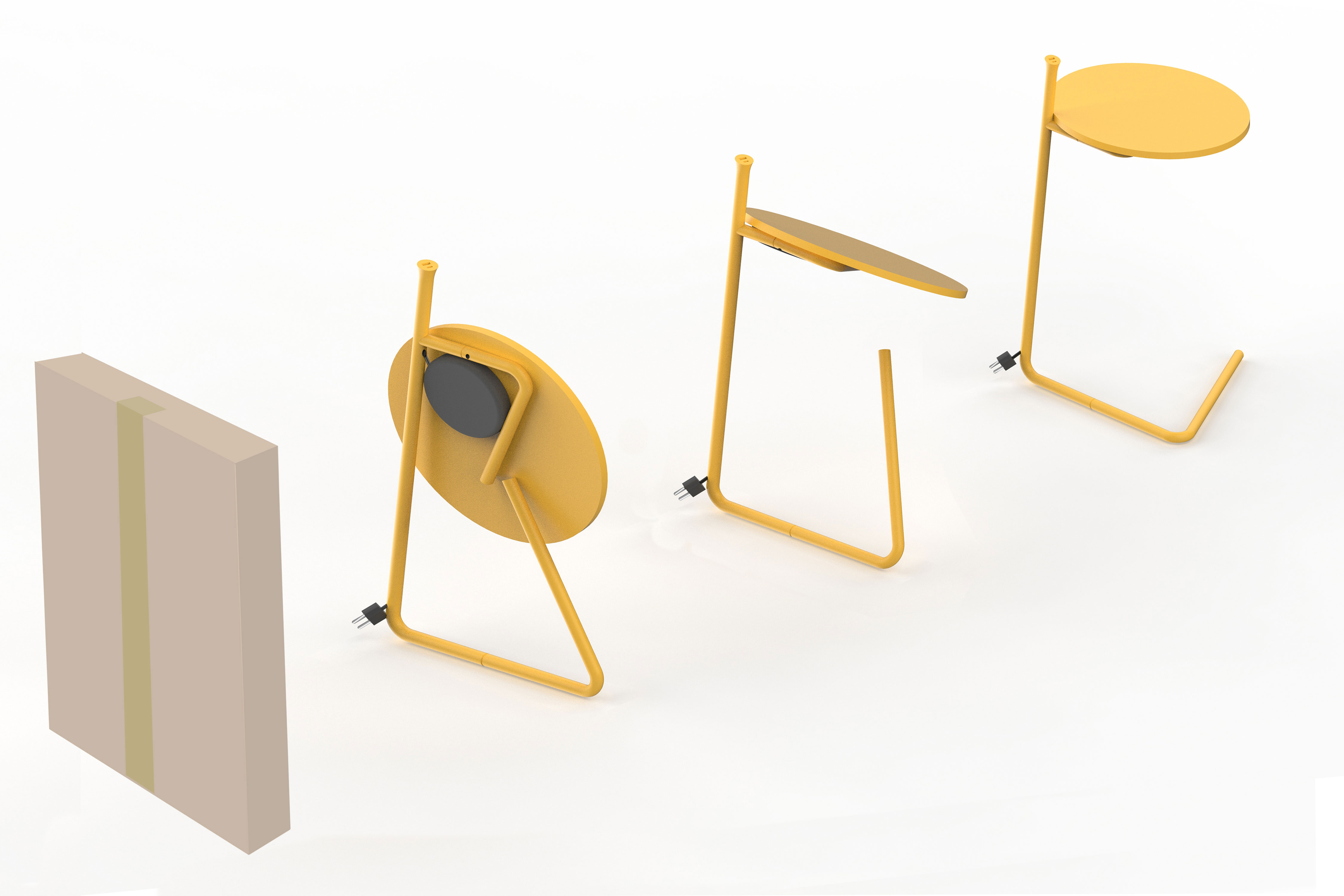 Kable Portable Side Table / Desk padstyle